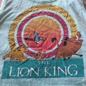 Lion king crop tank